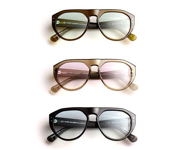 1 Modell in der 3 Farben der Wintersun-Kollektion von Oliver Goldsmith Sunglasses.