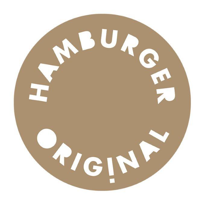 Rundes Logo der Hamburger Originale in natur-weiß