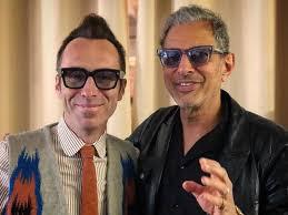 Jerome Mage und Jeff Goldblum, der ein großer Fan der Jacques Marie Mage Kollektion ist.