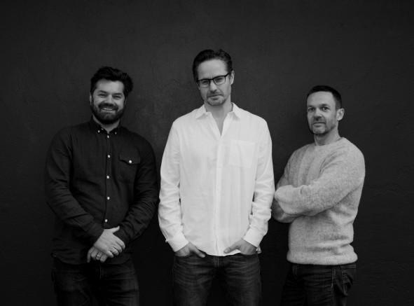 Tobias Wandrup, Namensgeber Henrik Orgreen und Gregers Fastsrup sind die Inhaber von Orgreen Optics.