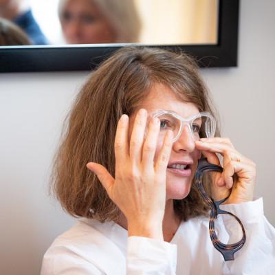 Veronika Wildgruber, Brillendesignerin und Inhaberin von Veronika Wildgruber Eyewear.