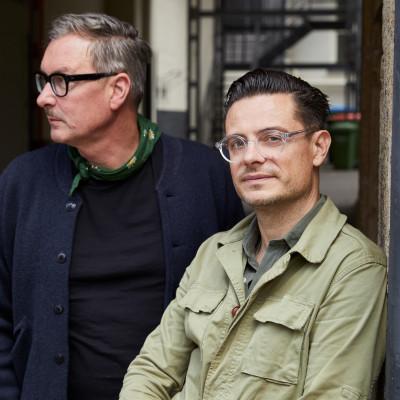 Klaus Stiegemeyer und Florian Baron von der Brillenmarke Mapleton aus Hamburg.