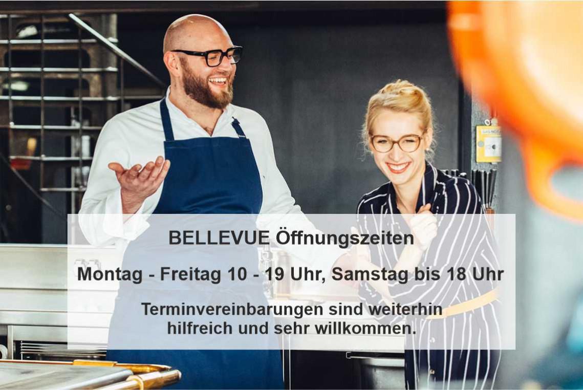 Die Gastronomen mit Thomas Imbusch und Sophie Lehmann vom Restaurant 100/200 mit ihren Brillen von BELLEVUE .