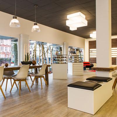 Einblick in das Geschäft von Optiker am Dom in Mainz.